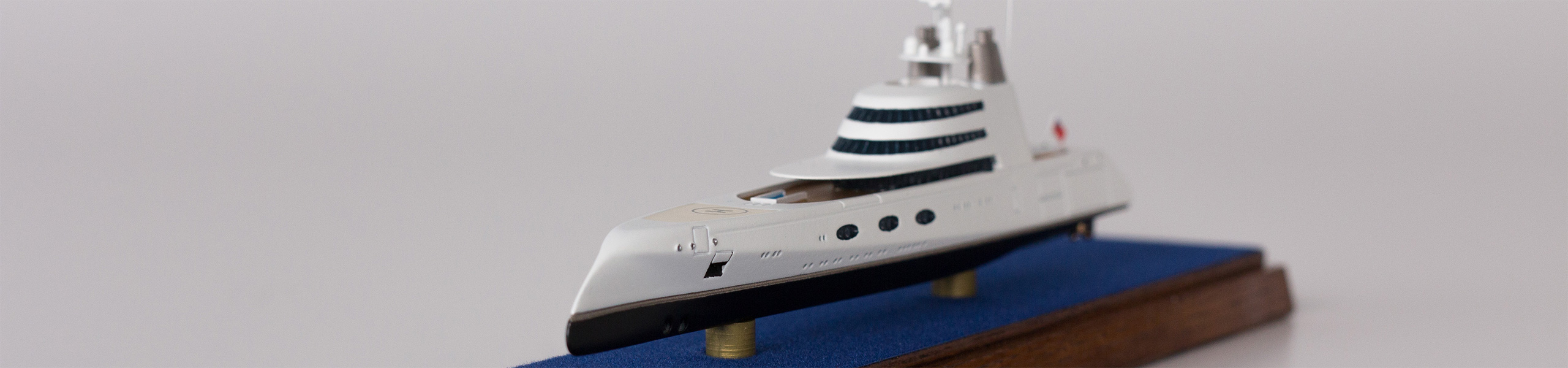 1:1250 Modell der Superyacht A